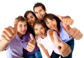 Group with thumbs-up — Stock Photo