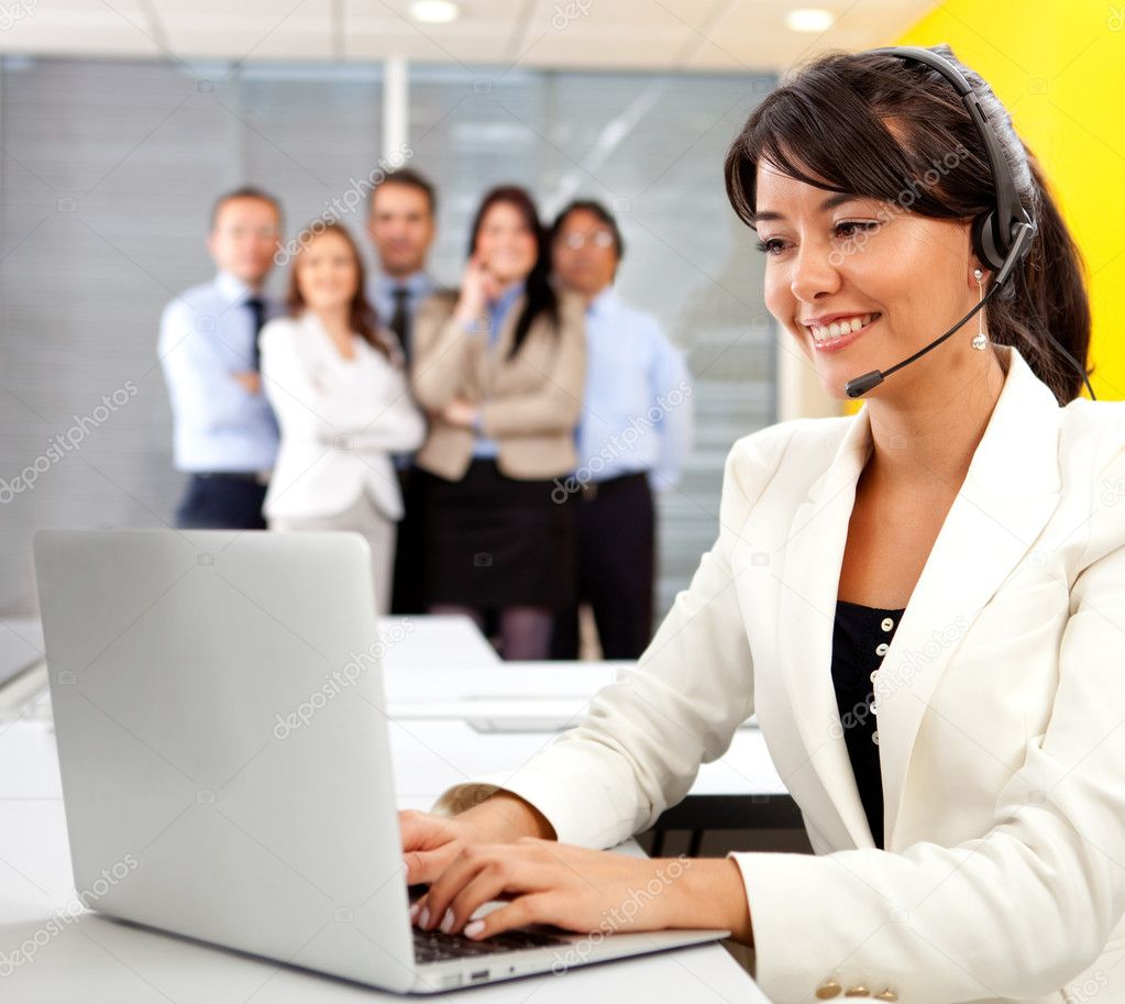 Customer support operator at a call center — Stock Photo #8849948