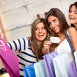 Females shopping on sale — Stock Photo