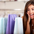 Excited shopping woman — Stock Photo #8850107