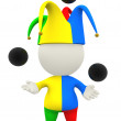 Stock Photo: 3D jester or clown