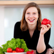 Healthy eating woman — Stock Photo #8850247