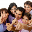 Group of pointing — Stock Photo