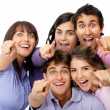 Surprised group of friends - Stock Photo