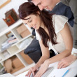 Business couple working — Stock Photo #8850431
