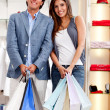 Stock Photo: Shopping couple