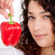 Royalty-Free Stock Photo: Woman with a red pepper