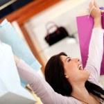 Happy shopping woman — Stock Photo #8850512