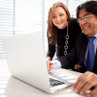 Business man with assistant — Stock Photo