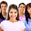 Woman in a group — Stock Photo