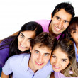 Happy group of young — Stock Photo #8850666