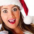 Mrs. Claus looking surprised — Stock Photo #8850676