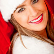 Beautiful female Santa — Stock Photo #8850689