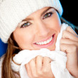 Beautiful winter woman — Stock Photo #8850714