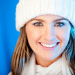 Winter woman portrait — Stock Photo