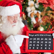Stock Photo: Countdown for Christmas is over