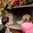 Kids waiting for Santa — Stock Photo