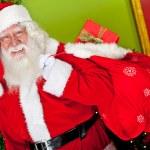 Santa with gift sack — Stock Photo