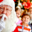 Santa keeping it quiet — Stock Photo