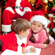 Christmas letter for Santa — Stock Photo