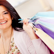 Girl shopping - Stock Photo