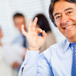 Business man making ok sign — Stock Photo