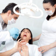 Woman at the dentist — Stock Photo