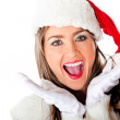 Excited Mrs Claus — Stock Photo