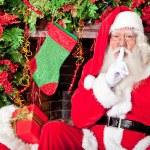 Santa sneaking in — Stock Photo