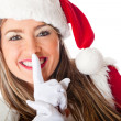 Santa requesting silence — Stock Photo #8850975