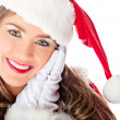 Cute female Santa — Stock Photo #8850985
