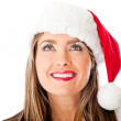 Thoughtful female Santa — Stock Photo #8850988