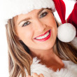 Gorgeous female Santa — Stock Photo
