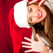Fun Mrs Claus - Stok fotoraf