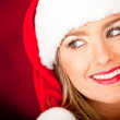 Royalty-Free Stock Photo: Female Santa smiling