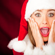 Stock Photo: Surprised Mrs Claus