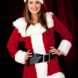 Stock Photo: Sexy female Santa