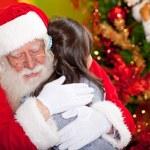 Christmas hug — Stock Photo