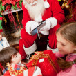 Technological Santa — Foto Stock