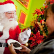 Milk and cookies for Santa — Stock Photo #8851125
