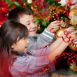 Decorating a Christmas tree — Stock Photo #8851138