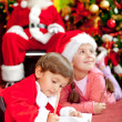 Christmas letter for Santa — Stock Photo #8851165