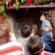 Excited children waiting for Santa — Stock Photo #8851204