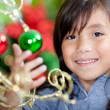 Girl with Christmas decorations — Stock Photo #8851205