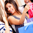 Female friends shopping — Stock Photo