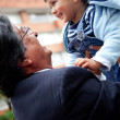 Young grandfather with a child — Stock Photo
