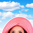 Summery woman with hat — Stock Photo #8851388