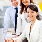 equipe de negócios online — Foto Stock
