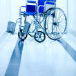 Hospital wheelchair — Stock Photo