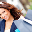 Girl with shopping bags — Stock Photo #8851465